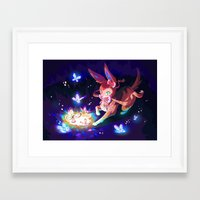 sylveon Framed Art Prints featuring Sylveon by Katie O'Meara