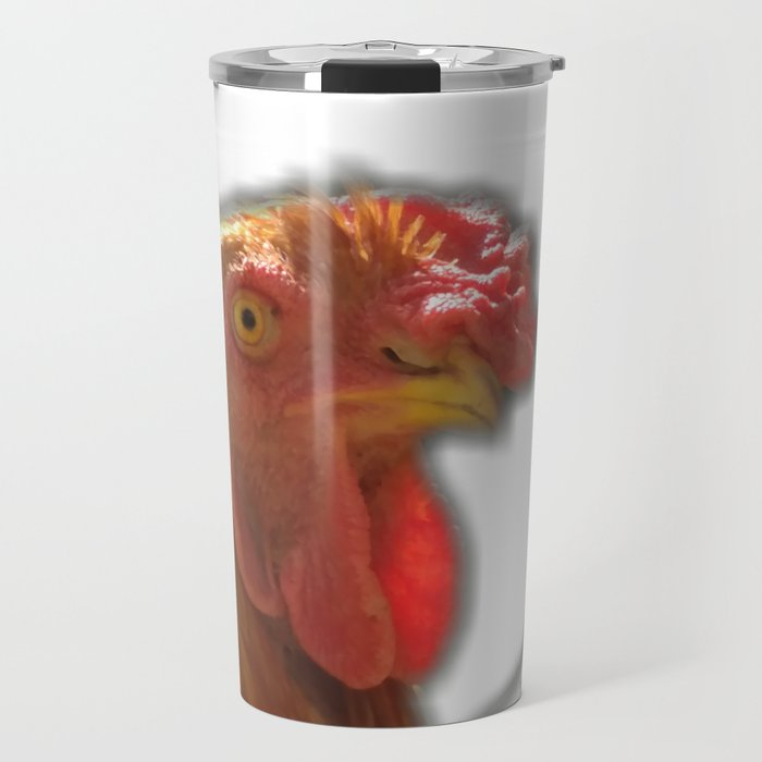 Rooseter and chiken~ happy couple Travel Mug