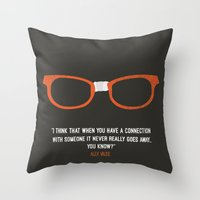 "alex vause Throw Pillows featuring ""when you have a connection with someone it never goes away"" Alex Vause OITNB by :: Fan art ::"
