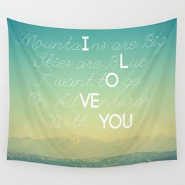 Adventures and I Love You Wall Tapestry