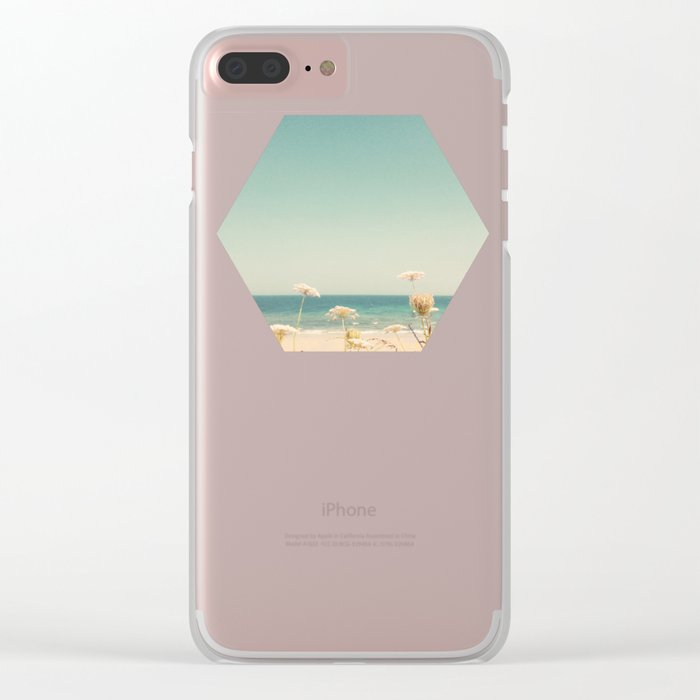 Water and Lace Clear iPhone Case