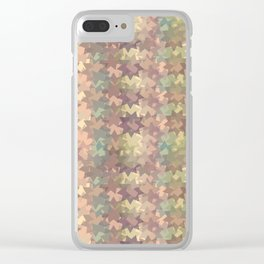 Geometric in sephia Clear iPhone Case