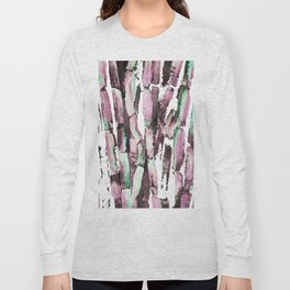 Purple Sugarcane on Greenery Long Sleeve T-shirt