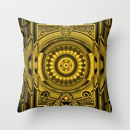 Yellow Sunflower Card Deck Cover Throw Pillow