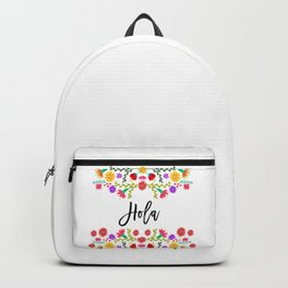 Hola, Mexican Fiesta, Colorful mexican, beatiful, flower, Rose,Fragrant Backpack