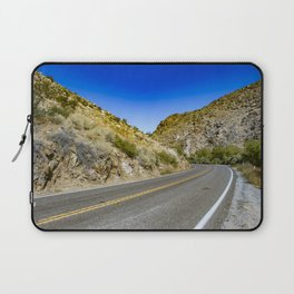 Highway Road Cutting through the Mountains in the Anza Borrego Desert, California, USA Laptop Sleeve