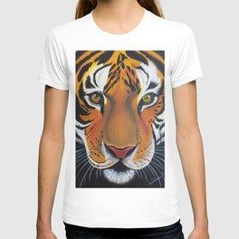 Tiger, acrylic on canvas T-shirt