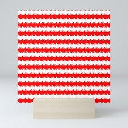 Bondi Beach Red and White Shark Attack Beach Stripe Mini Art Print
