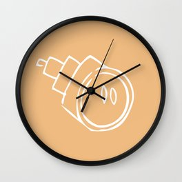 Caramel Town - Yellow Roro Wall Clock