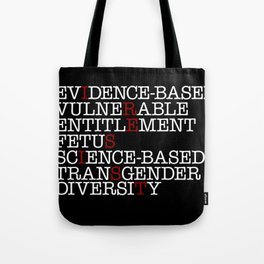 7 Banned Words CDC Center Disease Control Donald Trump I RESIST Tote Bag