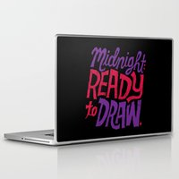cocaine Laptop & iPad Skins featuring Midnight: Ready to Draw by Chris Piascik