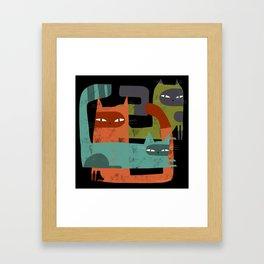 WHISKER BRACKETS Framed Art Print
