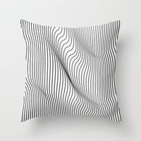 flag Throw Pillows featuring Minimal Curves by Leandro Pita