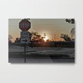 Stop Light Metal Print