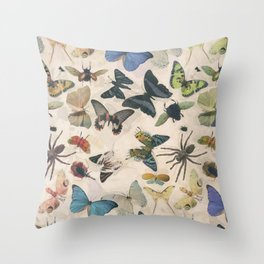 Insect Jungle Throw Pillow