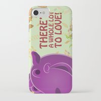 hippo iPhone & iPod Cases featuring Hippo by Jada McGill