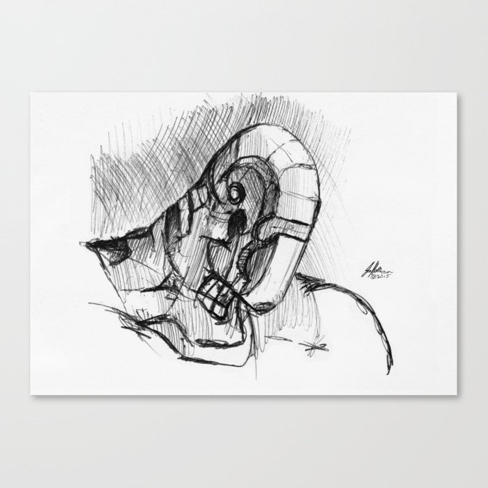 Warbot Sketch #057 Canvas Print
