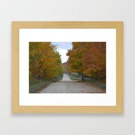 Fall Country Road Framed Art Print