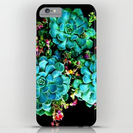 Beautiful Autumn plant green, blue iPhone Case