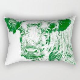 Ardnmurchan Coo - Green Rectangular Pillow