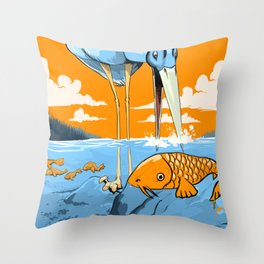 The Koi Decoy Throw Pillow