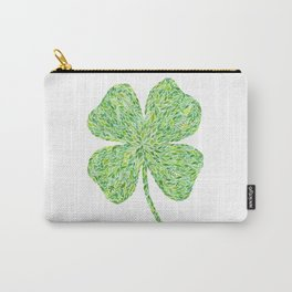 Shamrock Clover Watercolor Carry-All Pouch