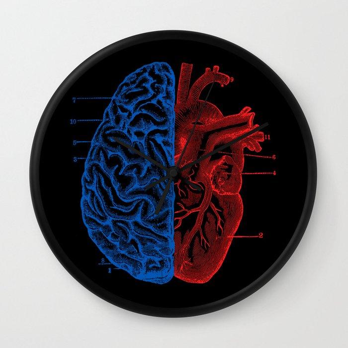 Heart and Brain Wall Clock
