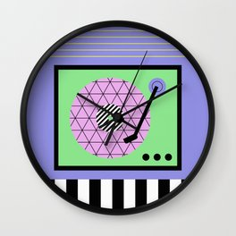 Play That Retro Geometric Vinyl Wall Clock