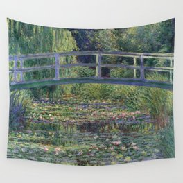 Water Lilies and the Japanese Bridge by Claude Monet Wall Tapestry