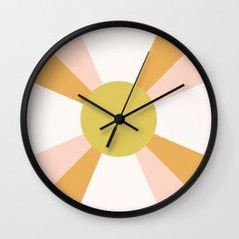 Retro Sun Rays - Morning Light Wall Clock