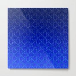 D20 Wizard Crit Pattern Premium Metal Print