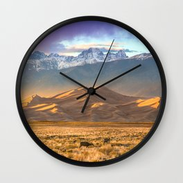 Deer and the Dunes Wall Clock