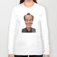jack nicholson Long Sleeve T-shirts featuring Celebrity Sunday ~ Jack Nicholson by rob art | illustration