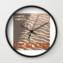 Make Waves California Wall Clock