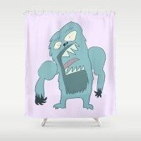 yeti Shower Curtains featuring Yeti by Steve Steiner