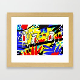 Coffee in the Jungle Framed Art Print