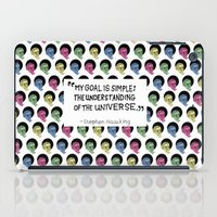 stephen king iPad Cases featuring stephen hawking by Aya Rosen
