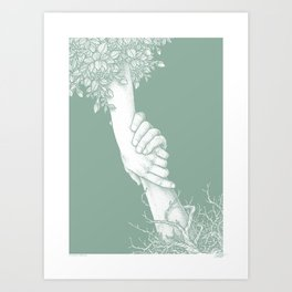 SAVED - GREEN - Visothkakvei Art Print