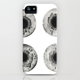 Charcoal Eye Contact iPhone Case