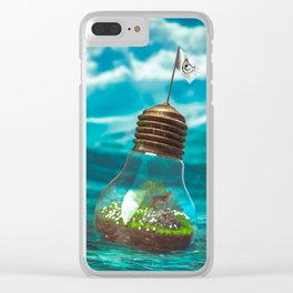 Captain Snuggles and The Lightboat Clear iPhone Case