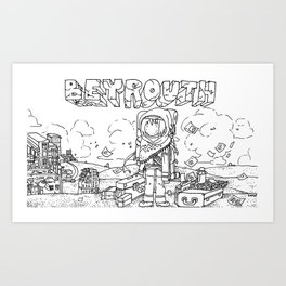 """Beirut"" Illustration Shyle Zalewski Art Print"