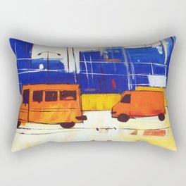 Yellow Buses Rectangular Pillow