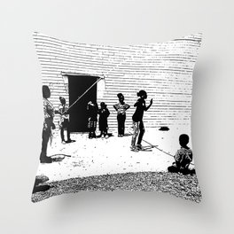 Skipping Rope Throw Pillow