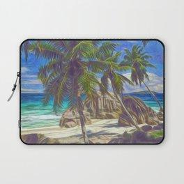 La Digue beach Laptop Sleeve