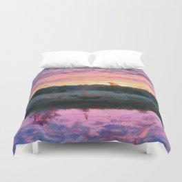Monet Inspired Sunrise Duvet Cover