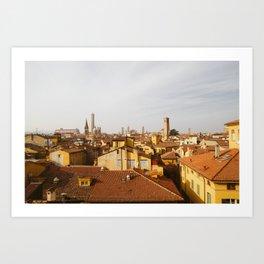 Bolognese Rooftops  Art Print