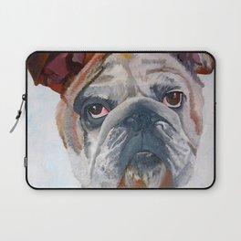 American Bulldog Portrait: Yale Mascot Laptop Sleeve