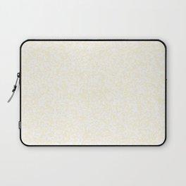 Tiny Spots - White and Cornsilk Yellow Laptop Sleeve