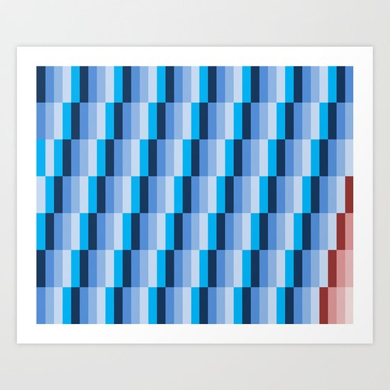 Fuzz Line #1 Art Print