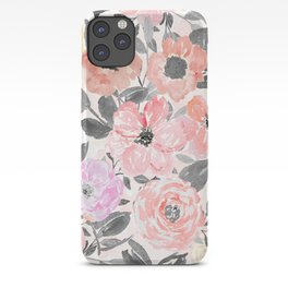 Elegant simple watercolor floral iPhone Case